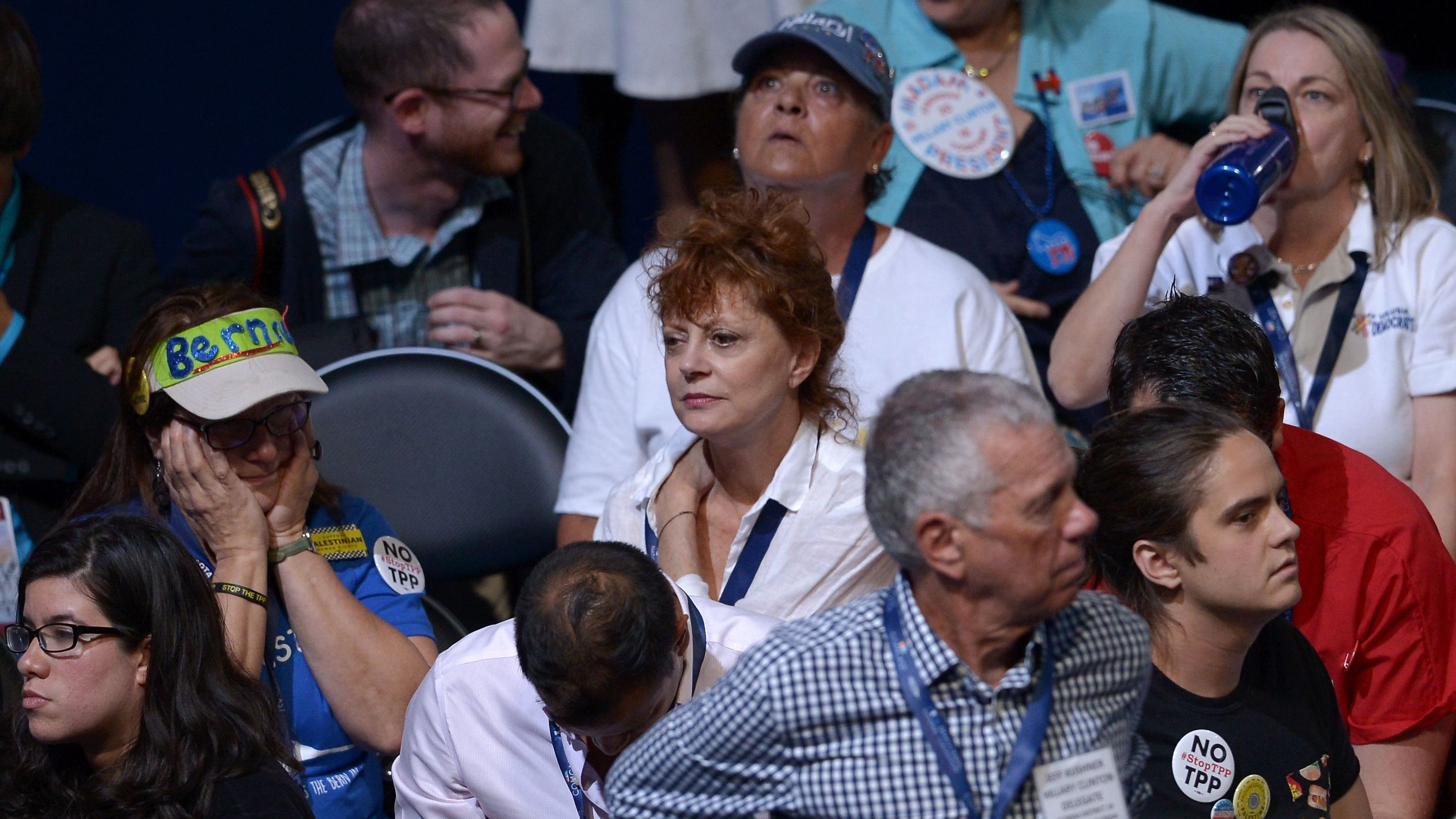 Susan Sarandon And Others Protest 'Slights' Against Bernie Sanders