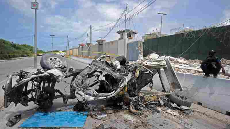 Suicide Bombings In Somalia's Capital Kill 13 Near Peacekeeping Base
