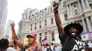 Black Lives Matter Activists Lead March To Democratic Convention