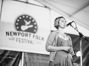 Joan Shelley performing at the 2016 Newport Folk Festival.