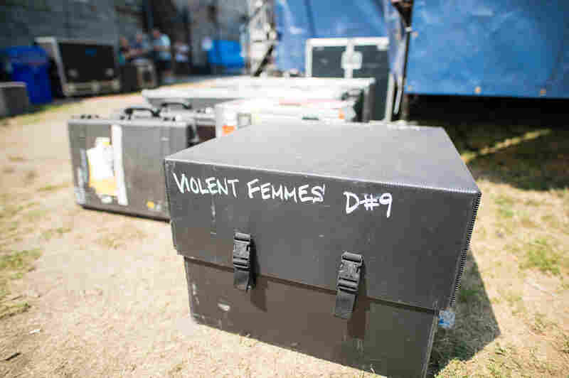 Backstage Friday at Newport Folk: Violent Femmes were here.