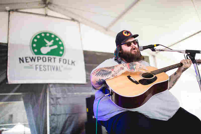 Oklahoma singer-songwriter John Moreland performed Saturday at the Harbor Stage.
