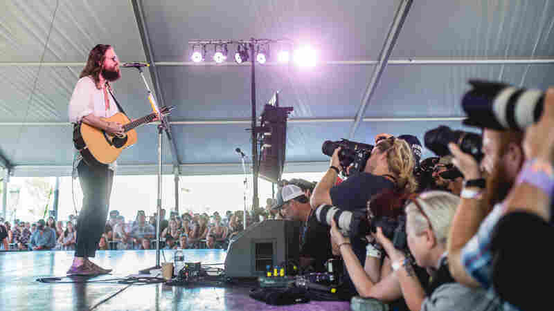 Father John Misty played a solo set Saturday after his controversial appearance at XPN Fest the previous day. (No surprises during his Newport performance.)