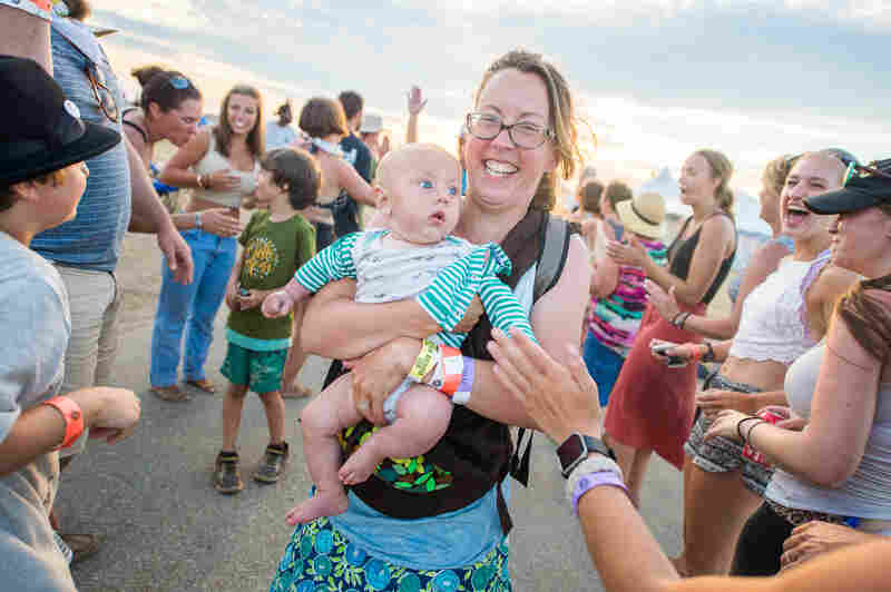 Early exposure to folk festivals makes kids grow up stronger, smarter and healthier. We think.