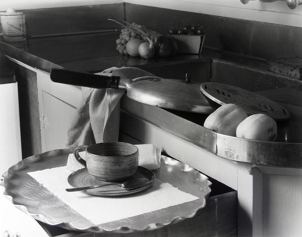 Imogen Cunningham, My Kitchen Sink, 1947, with the recipe: Imogen Cunningham's Borscht.