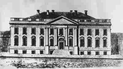 A drawing of the first White House designed by architect James Hoban, who won the competition to design the president's new house in 1792. Building began that year and ended in 1800.