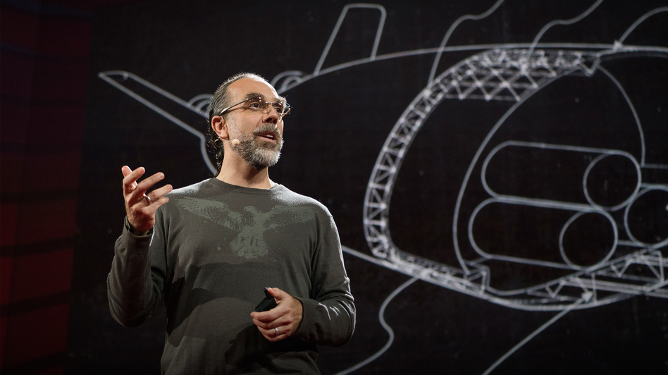 Astro Teller on the TED Stage. (Bret Hartman/TED)