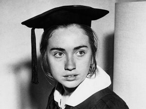 Clinton was the first student to deliver a commencement speech at Wellesley College in 1969. Her criticism of Sen. Edward Brooke's speech received national attention.