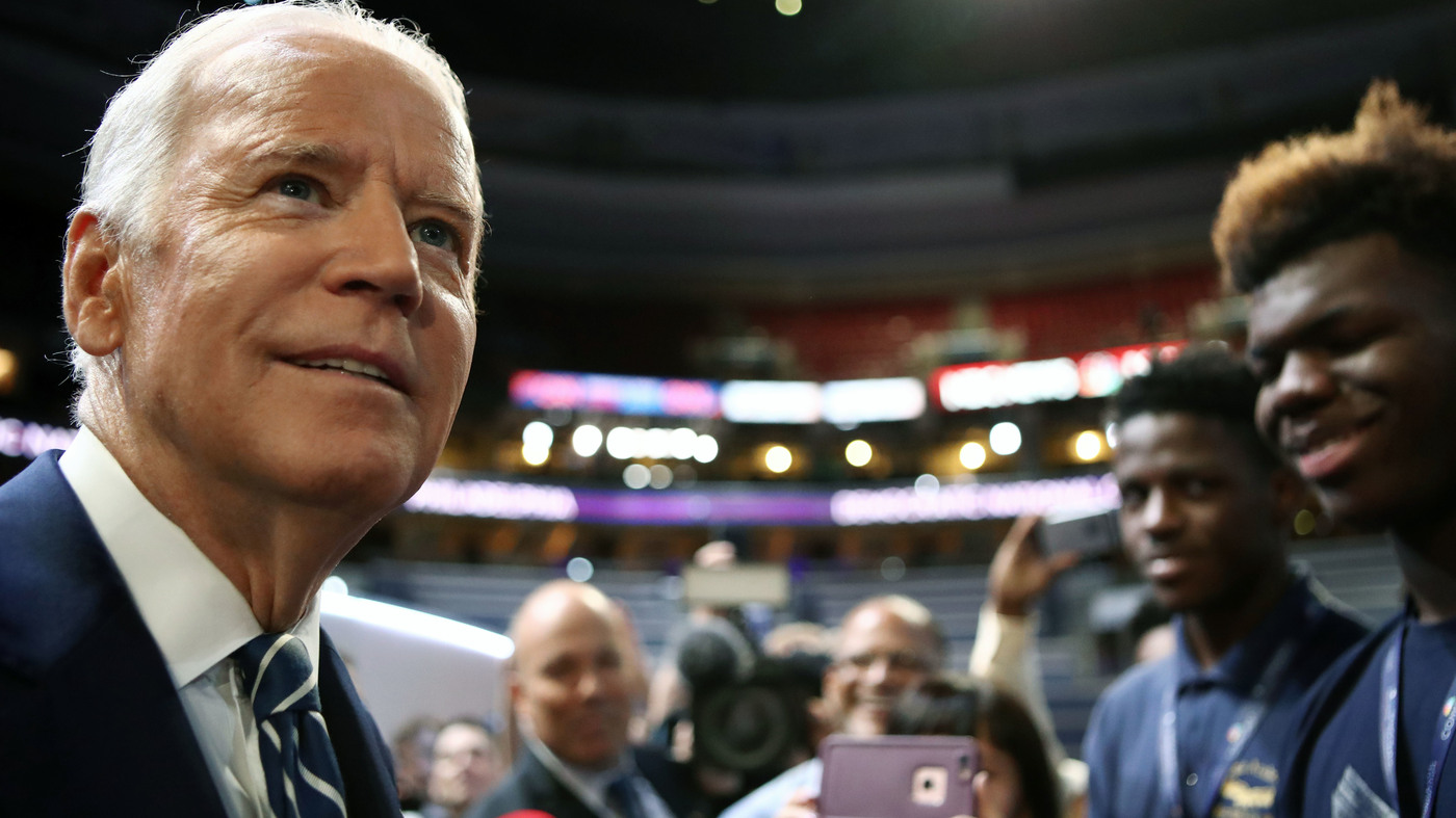 Vice President Joe Biden Addresses The Democratic National Convention On Wednesday Npr