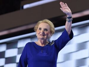 Former Secretary of State Madeleine Albright spoke Tuesday night at the Democratic National Convention.