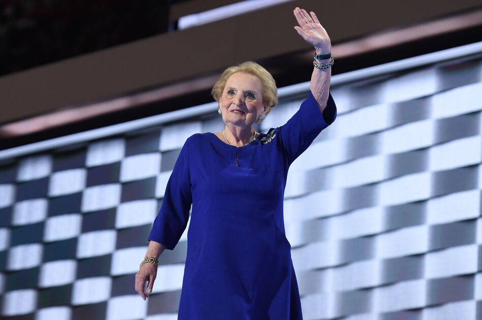 Former Secretary of State Madeleine Albright spoke Tuesday night at the Democratic National Convention. (Robyn Beck/AFP/Getty Images)