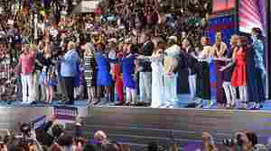 "Broadway performers perform 'What The World Needs Now..."" on the third day of the Democratic National Convention."