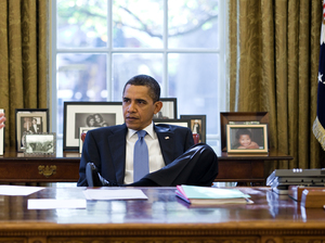 President Obama in the Oval Office of the White House in 2009.