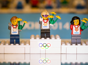 The triumph of victory at the Olympics