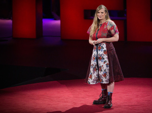 Lidia Yuknavitch on the TED Stage.