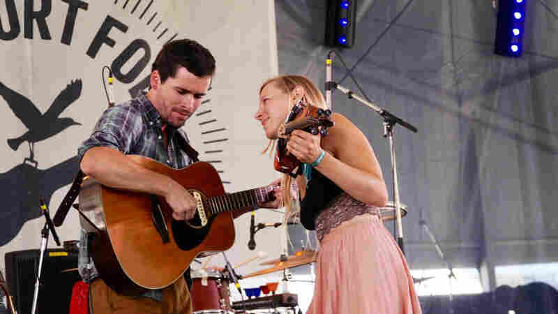 River Whyless performs at the 2016 Newport Folk Festival.