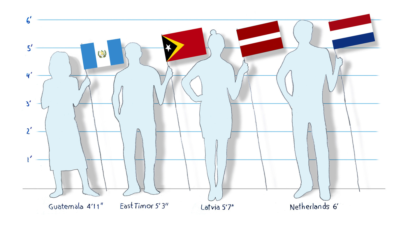 massive study looks at how heights around the world have changed