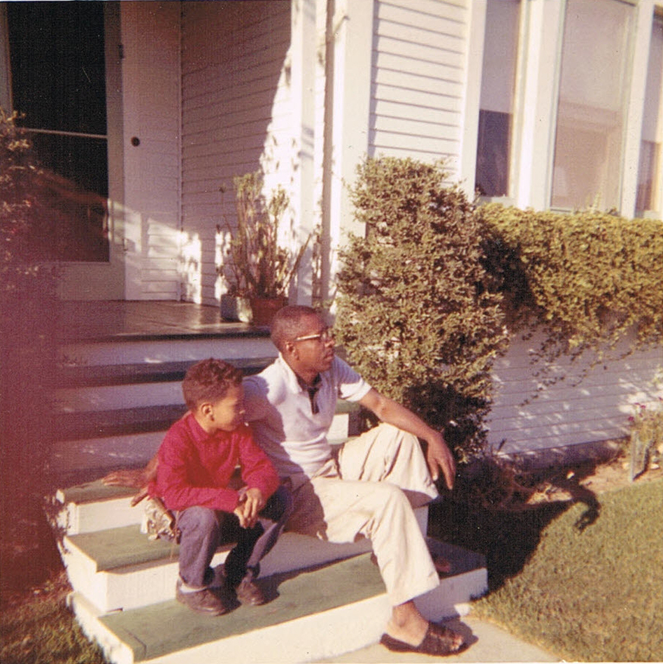 Author Walter Mosley with his father, Leroy Mosley. (Courtesy of Walter Mosley)