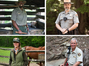 National Park Service employees from Great Smoky Mountains National Park.