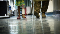Ameera, 6-Year-Old Afghan, Prepares To Walk Out Of U.S. Military Hospital