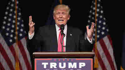 Republican Presidential candidate Donald Trump at a campaign stop in Scranton, Pennsylvania on Wednesday.
