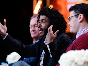 Great Performances series executive producer David Horn, Tony Award-winning actor Daveed Diggs and filmmaker Alex Horwitz at the 2016 Television Critics Association Summer Press Tour.