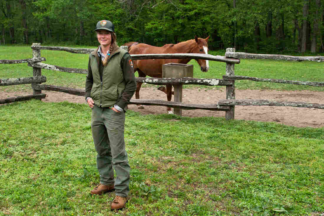 Heidi Brill works with the Trails crew as an animal caretaker. She has been working for the National Park Service for 8 years.