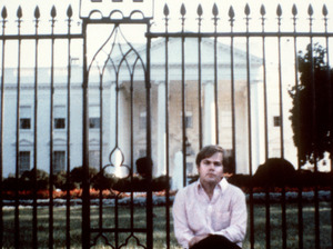 This undated photo was taken of John Hinckley Jr. in front of the White House before he attempted to assassinate President Ronald Reagan in D.C., on March 30, 1981.