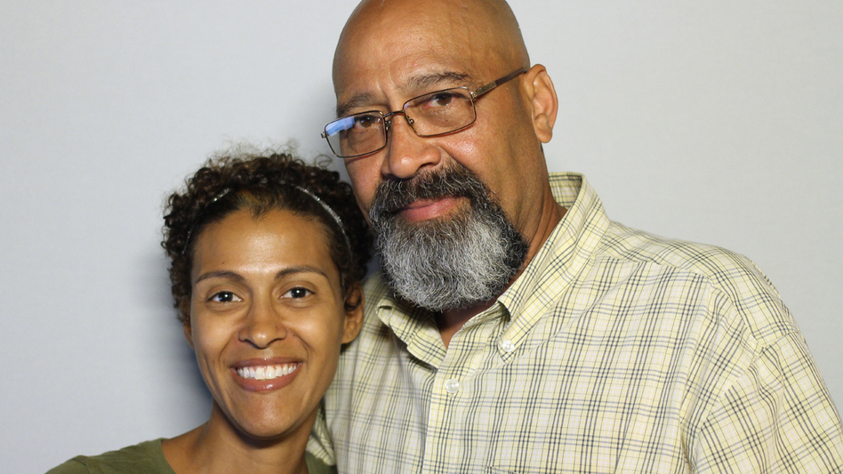Arnaldo Silva with his daughter Vanessa at StoryCorps. (StoryCorps)