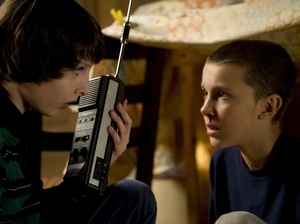Mike Wheeler (Finn Wolfhand) and Eleven (Millie Bobby Brown).