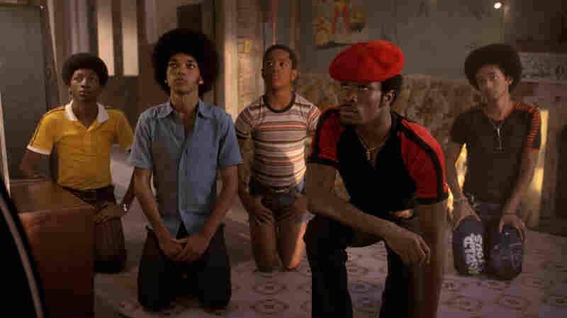 Skylan Brooks, Justice Smith, Tremaine Brown Jr., Shameik Moore, and Jaden Smith in The Get Down.