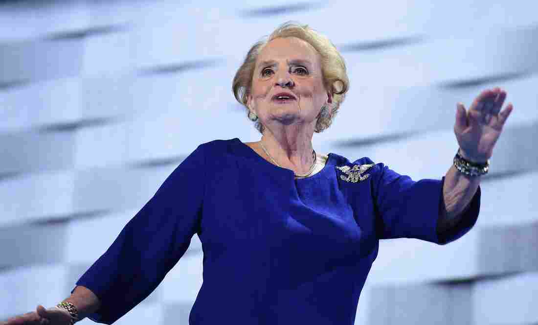 Former Secretary of State Madeleine Albright's brooch speaks volumes.
