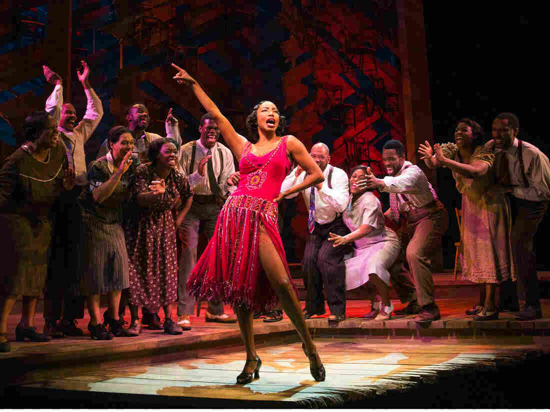 Singer and actress Heather Headley (center) returns to Broadway after 15 years to wow audiences in her role as Shug Avery in a revival of The Color Purple.