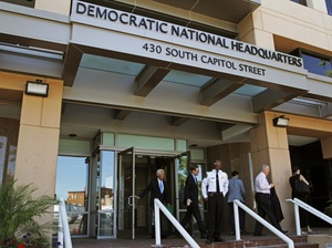 The Democratic National Committee headquarters in Washington, which also houses the Democratic Congressional Campaign Committee. The computer networks of both the DNC and DCCC have been hacked; investigators say Russia is the likely culprit.