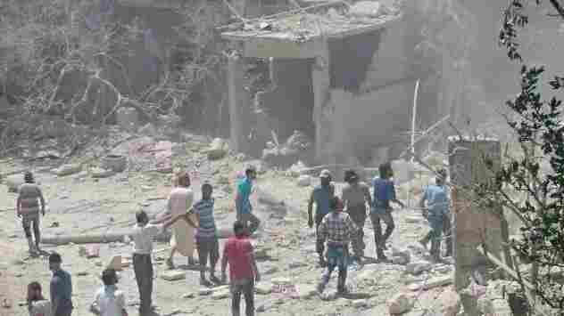 Save the Children says the bombed maternity hospital it supports in the rebel-held Syrian province of Idlib served some 1,300 women and children a month.