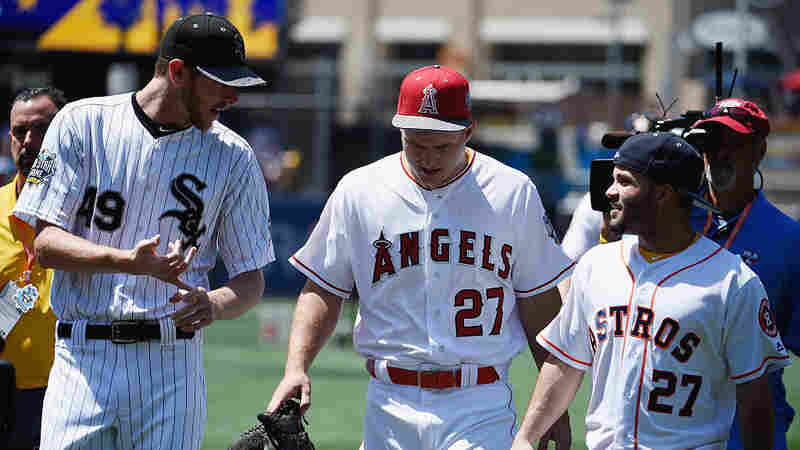 You obviously don't need to be tall to be an all-star. You can be 6-foot-6 like pitcher Chris Sale (L), 6-foot-2 like outfielder Mike Trout (C) or 5-foot-5 like second baseman Jose Altuve (R). Most societies have grown taller over the past century, but the rate in places with poor health and access to food has declined or plateaued.
