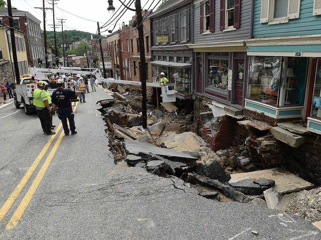 Maryland Town Begins Cleanup After Deadly Weekend Flooding ...