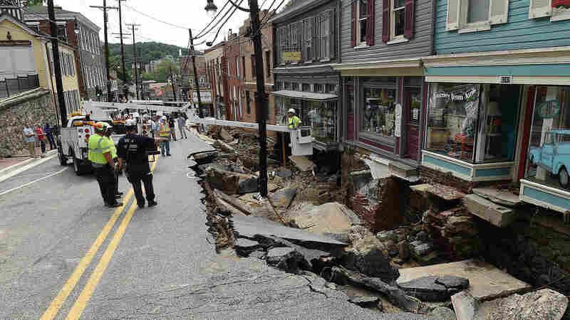 Maryland Town Begins Cleanup After Deadly Weekend Flooding
