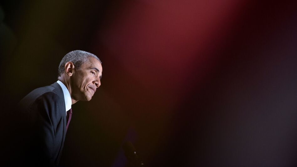 President Obama addresses the 95th National Convention of Disabled American Veterans on Monday in Atlanta. (Brendan Smialowski/AFP/Getty Images)