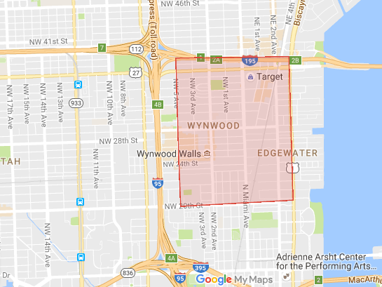 The area in Miami that is being affected by Zika.