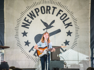 Julien Baker performs at the 2016 Newport Folk Festival.