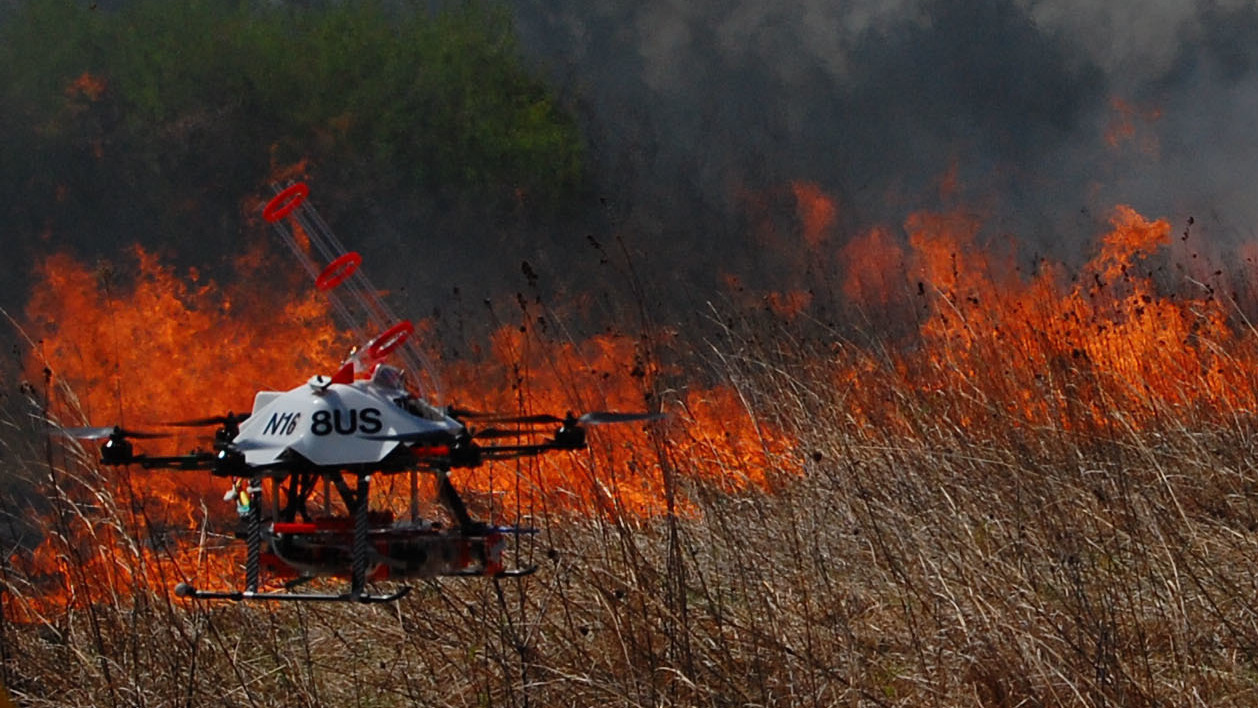 Drones That Launch Flaming Balls Are Being Tested To Help Fight Wildfires