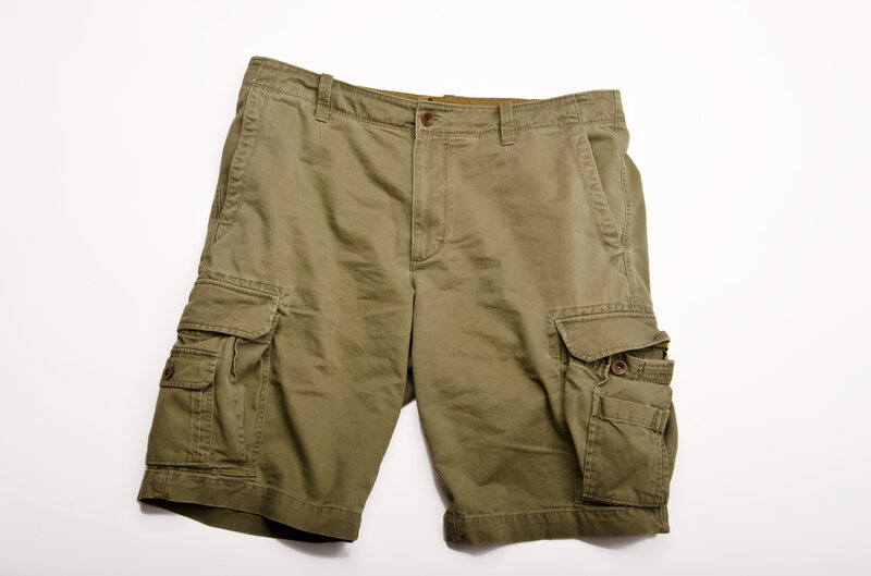 cargo shorts with lots of pockets