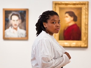 Daja Moorer performs an original monologue acting as the Hull House founder Jane Addams at the Smithsonian National Portrait Gallery. Moorer chose to portray Jane Addams for Portraits Alive! because of the mysterious nature of the portrait.