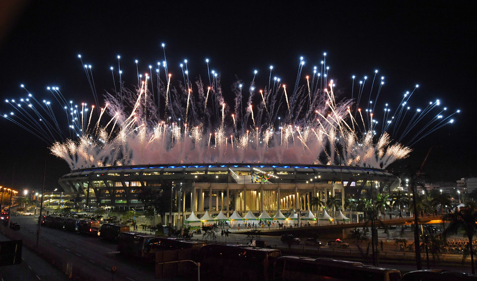 The Opening Ceremony's directors this week, worked with a budget that was a fraction of the amount spent to launch the last two Summer Olympics, in London and Beijing. (Getty Images)