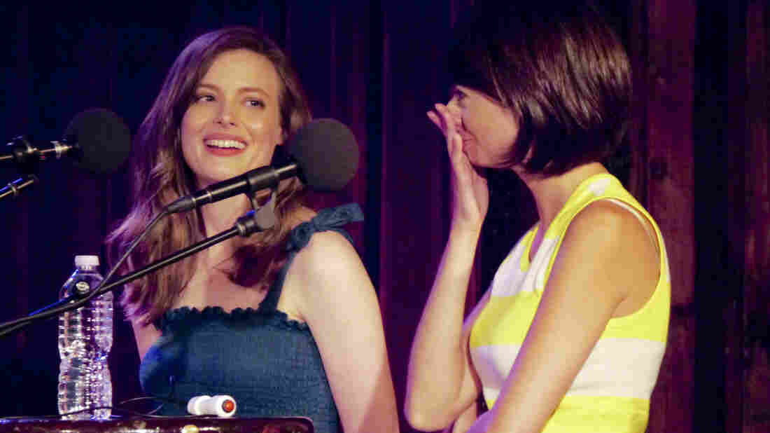 Gillian Jacobs and Kate Micucci on Ask Me Another.