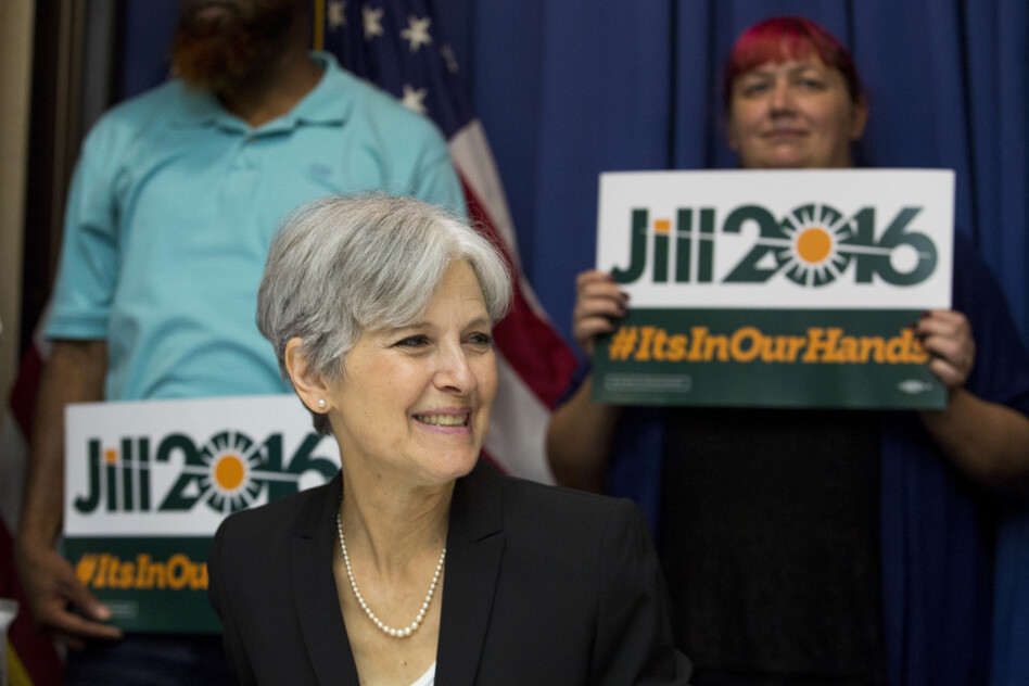 Jill Stein nabbed the Green Party nomination for her second presidential bid on Saturday, after running in 2012. She hopes the wave of Sanders supporters will help make her a viable third-party challenger. (Drew Angerer/Getty Images)
