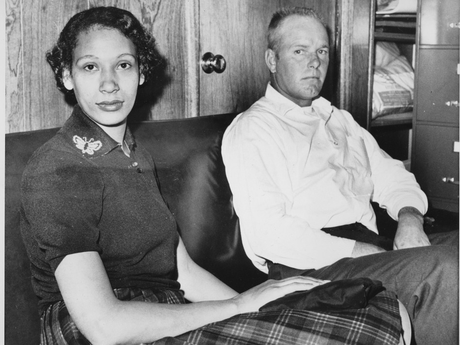 Mildred Loving and her husband, Richard P. Loving, are shown on Jan. 26, 1965. In 1967, the ruling in the Lovings' Supreme Court case officially legalized interracial marriage. (AP)