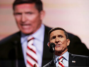 Retired Army Lt. Gen. Michael Flynn spoke at the Republican National Convention in Cleveland last month in support of Donald Trump.