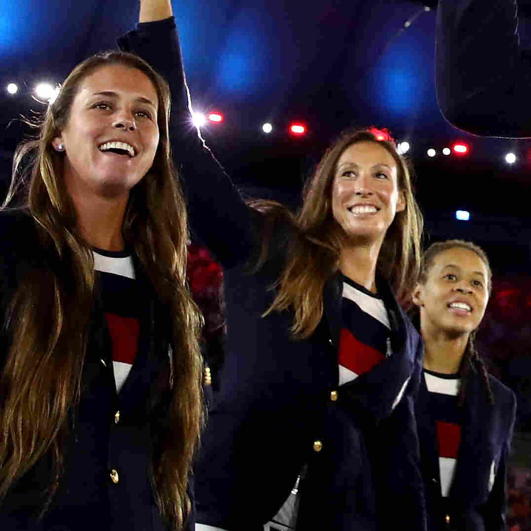 Team USA athletes take part in the opening ceremony of the Rio 2016 Summer Olympics at Maracana Stadium on Aug. 5.